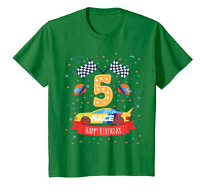 Funny shirts V-neck Tank top Hoodie sweatshirt usa uk au ca gifts for Kids 5th fifth 5 five years old happy birthday race car t shirts 1549533