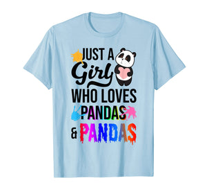 Funny shirts V-neck Tank top Hoodie sweatshirt usa uk au ca gifts for Just A Girl Who Loves Pandas And Slime T-Shirt 1516427