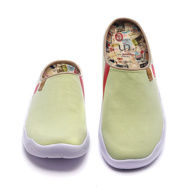 Marbella Light Green Slipper  キャンバス スリッパ