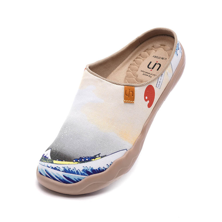 Great Wave off Kanagawa Slipper キャンバス スリッパ