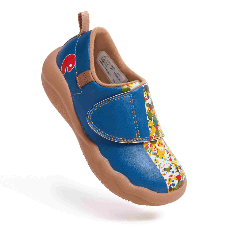UIN Footwear Kid Color Border Kid Canvas loafers