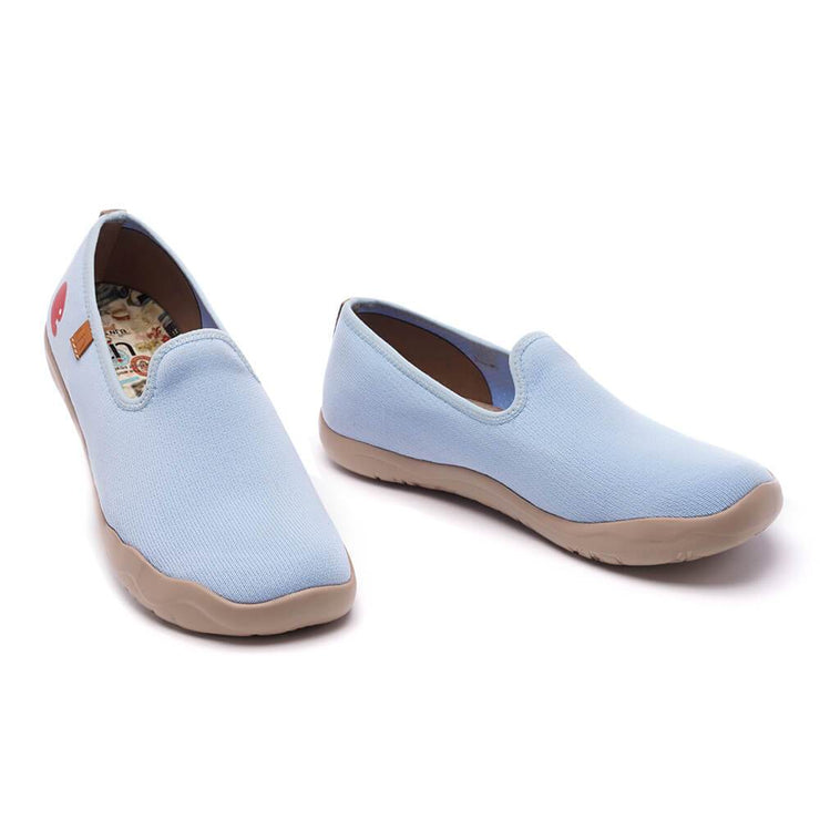UIN Footwear Men Barcelona Knitted Light Blue Canvas loafers