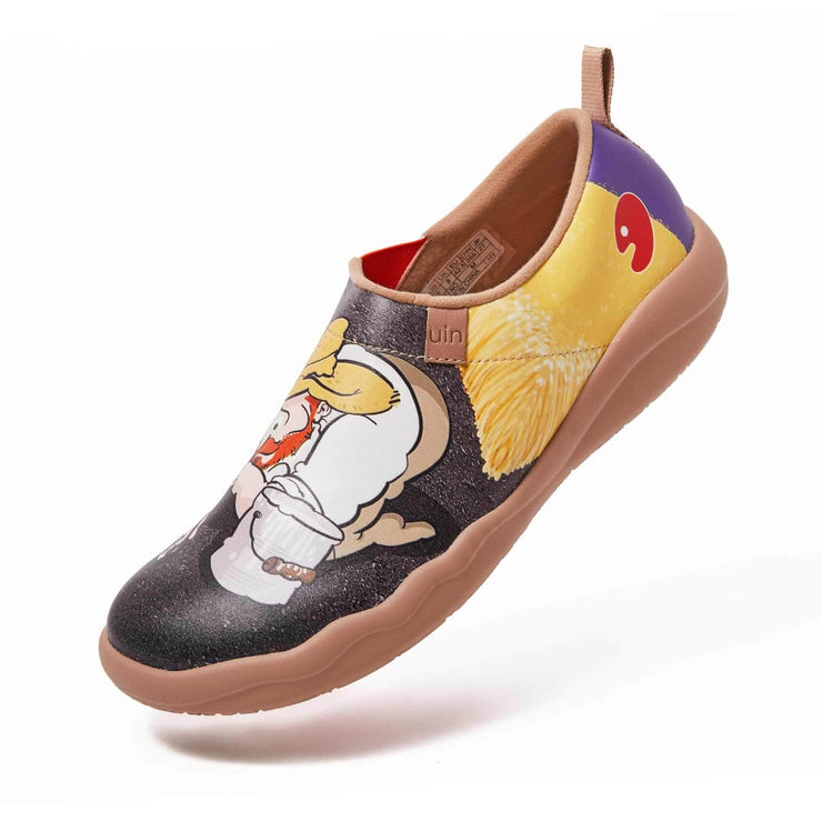 UIN Footwear Men Drawing Van Goh Canvas loafers