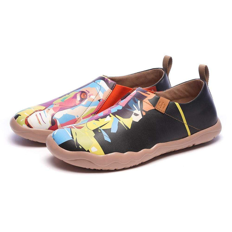 UIN Footwear Men Hello, Lion Multicolored Flats For Men Canvas loafers