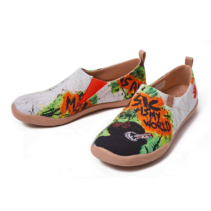 UIN Footwear Men Music is My World Canvas loafers