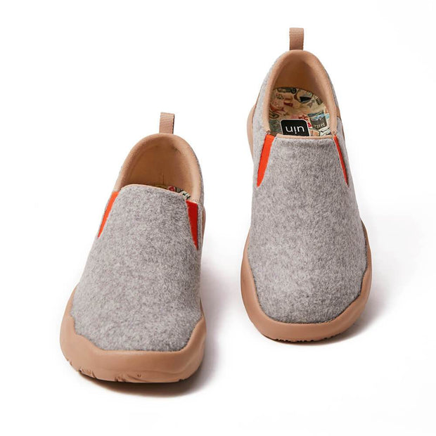 UIN Footwear Men (Pre-sale) Cuenca Light Grey Wool Men Canvas loafers