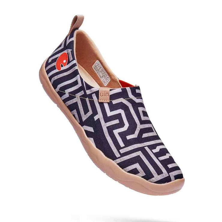 UIN Footwear Men Thread of Maze Canvas loafers