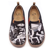 UIN Footwear Men Wandering Art Design Men Flats Canvas loafers