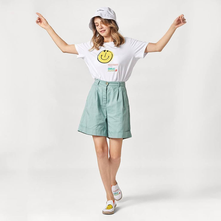 UIN Footwear T-shirt Smiley T-shirt Canvas loafers