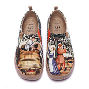 UIN Footwear Women Art Du Vin Canvas loafers