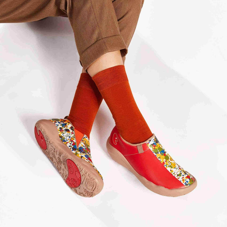 UIN Footwear Women Color Border Women Canvas loafers