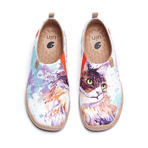 UIN Footwear Women Curl Cat Canvas loafers