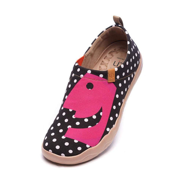 UIN Footwear Women Hola Dot Female Canvas Shoes Canvas loafers