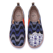 UIN Footwear Women LA PEDRERA Men Canvas Art Painted Shoes Canvas loafers