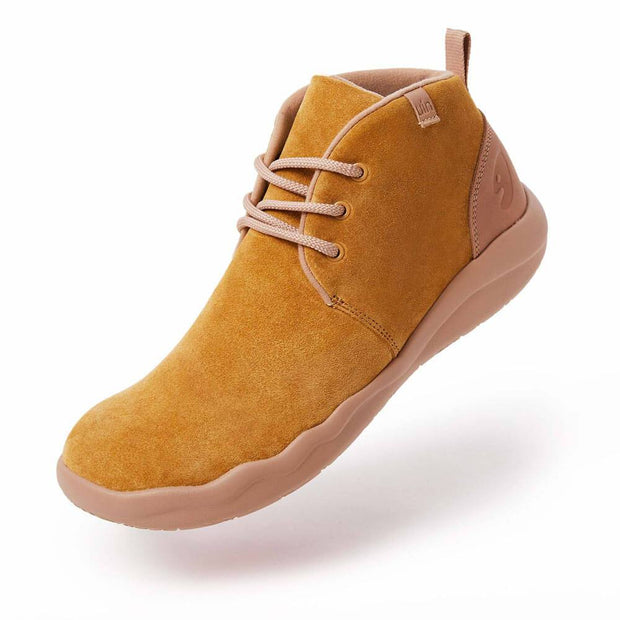 UIN Footwear Women (Pre-sale) Bilbao Khaki Cow Suede Lace-up Boots Women Canvas loafers