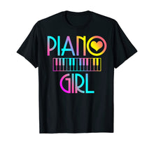 Laden Sie das Bild in den Galerie-Viewer, Piano Girl T Shirt Musical Tshirt Pianist Keyboard Cute Tee