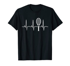 Tennis Heartbeat Shirt Best Tennis Gift Tee for Players Fans