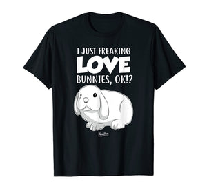 Funny shirts V-neck Tank top Hoodie sweatshirt usa uk au ca gifts for I Just Freaking Love Bunnies Cute Bunny Lover T Shirt 1657375