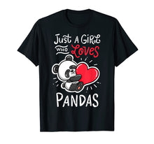Laden Sie das Bild in den Galerie-Viewer, Panda T Shirt Giant Panda Bear T-Shirt Animal Heart Tee