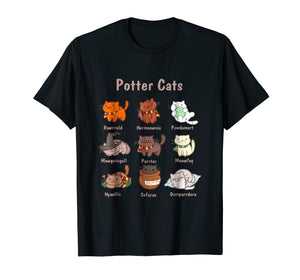 Potter Cats t-shirt, Funny Gifts For Cat Lovers Tshirt