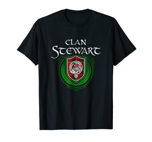 Funny shirts V-neck Tank top Hoodie sweatshirt usa uk au ca gifts for Stewart Surname Scottish Clan Tartan Crest Badge T-shirt 1490391