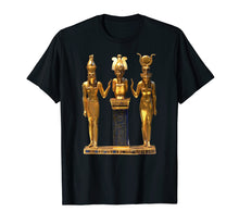 Laden Sie das Bild in den Galerie-Viewer, Funny shirts V-neck Tank top Hoodie sweatshirt usa uk au ca gifts for Egyptian Trinity Golden Horus Osiris and Isis Statue T-shirt 2119268