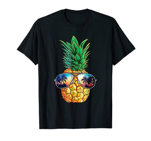 Pineapple Sunglasses T shirt Aloha Beaches Hawaiian Hawaii