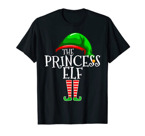 The Princess Elf Group Matching Family Christmas Gift Funny T-Shirt