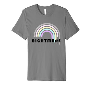 Funny shirts V-neck Tank top Hoodie sweatshirt usa uk au ca gifts for Gothic Bubble Goth Nightmare Cute Pastel Rainbow Shirt 2485498