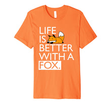 Laden Sie das Bild in den Galerie-Viewer, Funny shirts V-neck Tank top Hoodie sweatshirt usa uk au ca gifts for Life Is Better With A Fox Kawaii T-shirt 2074052