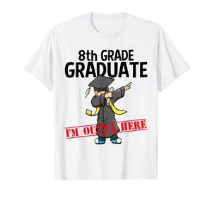 Funny shirts V-neck Tank top Hoodie sweatshirt usa uk au ca gifts for 8th Grade Graduation Shirt Funny Dabbing Boy Party Gift Idea 1002144