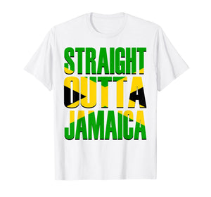 Funny shirts V-neck Tank top Hoodie sweatshirt usa uk au ca gifts for Straight Outta Jamaica Gift Flag Pride T-Shirt 1597565