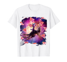 Laden Sie das Bild in den Galerie-Viewer, Funny shirts V-neck Tank top Hoodie sweatshirt usa uk au ca gifts for Thug Space Cat On Dinosaur Unicorn - Pizza Shirt 2541418