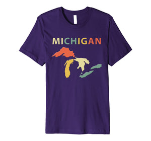 Funny shirts V-neck Tank top Hoodie sweatshirt usa uk au ca gifts for Michigan Great Lakes Shirt. Retro Vintage Colors T-Shirt Tee 2096674