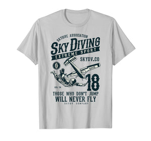 Skydiving T Shirt Parachuting T-Shirt Skydive Tee Skydiver