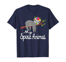 Laden Sie das Bild in den Galerie-Viewer, Sloth Shirt Men Women Kids My Spirit Animal is A Sloth Funny T-Shirt
