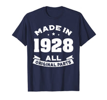 Laden Sie das Bild in den Galerie-Viewer, Funny shirts V-neck Tank top Hoodie sweatshirt usa uk au ca gifts for Age Shirt Made in 1928 91st Years Old 90 Birthday Gift 1281643