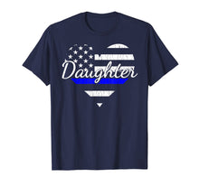Laden Sie das Bild in den Galerie-Viewer, Funny shirts V-neck Tank top Hoodie sweatshirt usa uk au ca gifts for Police Daughter Life Heart Shirt. The Thin Blue Line Family. 1280594