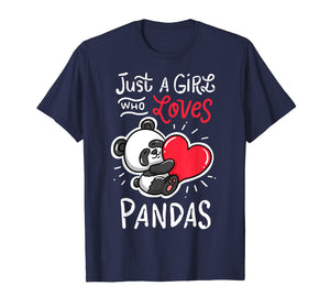 Panda T Shirt Giant Panda Bear T-Shirt Animal Heart Tee