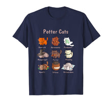 Laden Sie das Bild in den Galerie-Viewer, Potter Cats t-shirt, Funny Gifts For Cat Lovers Tshirt