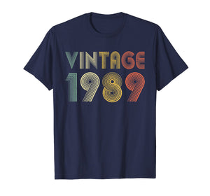 Retro Vintage 1989 TShirt 30th Birthday Gifts 30 Years Old
