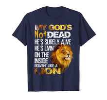Laden Sie das Bild in den Galerie-Viewer, Funny shirts V-neck Tank top Hoodie sweatshirt usa uk au ca gifts for My God's Not Dead Lion Christian Christ Cross Faith T-Shirt 1019269