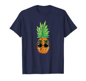 Funny shirts V-neck Tank top Hoodie sweatshirt usa uk au ca gifts for Pineapple Sunglasses Aloha Beaches Hawaii - Hawaiian T-shirt 1216537