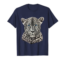 Laden Sie das Bild in den Galerie-Viewer, T Shirts for Men Women Kids Graphic Leopard with Blue Eyes
