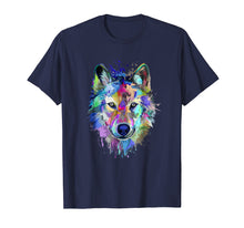 Laden Sie das Bild in den Galerie-Viewer, Splash Art Wolf T-Shirt | Gifts for Wolf lovers