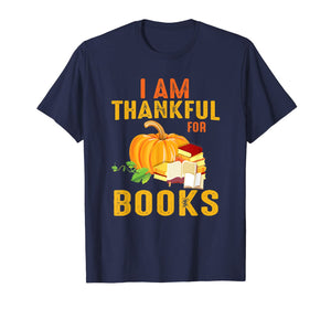 Thanksgiving Book Lover Librarian Gift Reading Lover T-Shirt