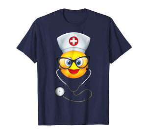 Nurse Halloween Shirt Funny Emoji Nurse Costume T-Shirt