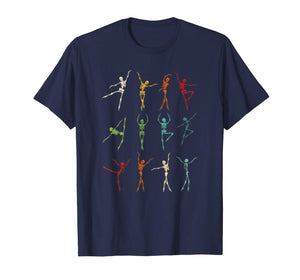 Skeleton Dancing Ballet Halloween Tee Skeleton Ballerina T-Shirt