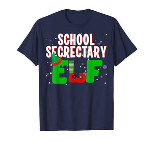 School Secretary Elf Funny Christmas Matching Group Gifts T-Shirt
