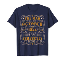 Laden Sie das Bild in den Galerie-Viewer, October 1952 Man Myth Legend Retro 67th Bday Gift 67 Yrs Old T-Shirt